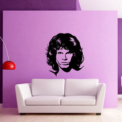 Kakshyaachitra Jim Morrison Wall Stickers For Bedroom And Living Room, 48 52 inches
