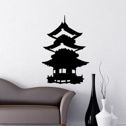 Kakshyaachitra Miyabi Japanese House Wall Stickers For Bedroom And Living Room, 48 70 inches