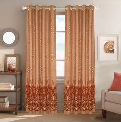 Dreamscape Poly Cotton Geometric, brown, door