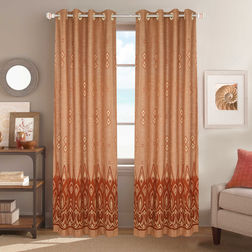 Dreamscape Poly Cotton Geometric, brown, door