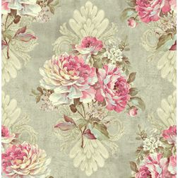 Elementto Wallpapers Floral Design Home Wallpaper For Walls ew70301-4, grey