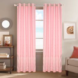 Dreamscape Poly Cotton Geometric, door, pink