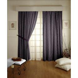 Shashank Geometric Readymade Curtain - 26, door, purple