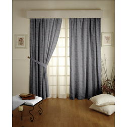Constellation Plain Readymade Curtain - 111, door, grey