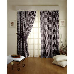 Shashank Geometric Readymade Curtain - 31, door, grey