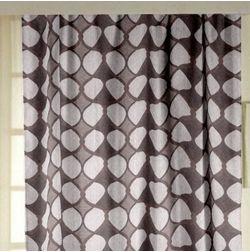 Zoya Geometric Readymade Curtain - 704, window, purple
