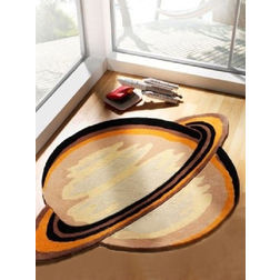 Floor Carpet and Rugs Hand Tufted, AC Concept Kids Orange Carpets Online - KD-93-L, 3ftx5ft, orange