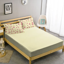 Double Bed Sheet With Two Pillow Covers BS-10, double, cream