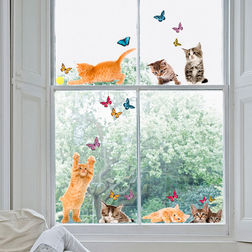 Wall Decals Home Decor Line Cats - 64001