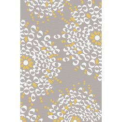 Floor Carpet and Rugs Hand Tufted, AC Concept Floral Grey Carpets Online - ACR 50-L, grey, 3ftx5ft