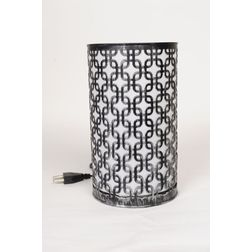 Aasra Decor Squares in Squares Lamp Lighting Table Lamp, silver