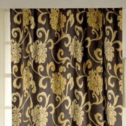 Rangshri Floral Readymade Curtain - 21, window, gold