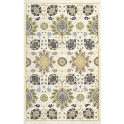 Floor Carpet and Rugs Hand Tufted, The Rug Concept Beige Carpets Online Tbilisi 6089-M, 3ft x 5ft, beige