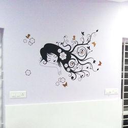 Wall Stickers WallDesign Cute Girl Dreaming
