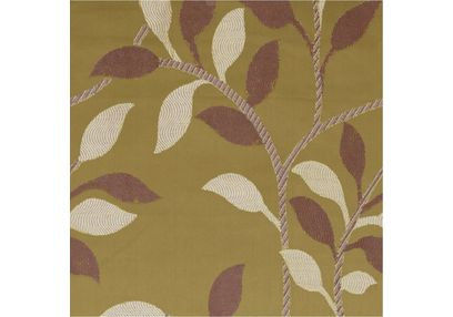 Romania Floral Curtain Fabric - 46, green, fabric