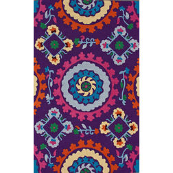 Floor Carpet and Rugs Hand Tufted, The Rug Concept Purple Carpets Online Tbilisi 6092-L, 3ft x 5ft, purple