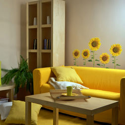 Wall Stickers Home Decor Line Sunflowers - 43009