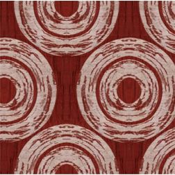Ramkhao Geometric Curtain Fabric - 11, red, fabric