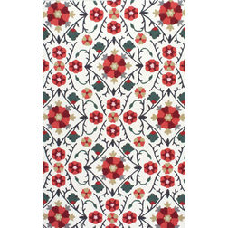 Floor Carpet and Rugs Hand Tufted, The Rug Concept Red Carpets Online Tbilisi 6033-S, red, 3ft x 5ft