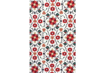 Floor Carpet and Rugs Hand Tufted, The Rug Concept Red Carpets Online Tbilisi 6033-S, 3ft x 5ft, red