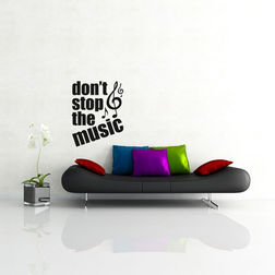 Kakshyaachitra Don't Stop Music Wall Stickers For Bedroom And Living Room, 24 31 inches