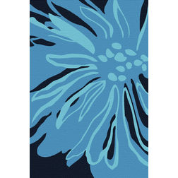 Floor Carpet and Rugs Hand Tufted, AC Concept Abstract Blue Carpets Online - ACR 37-L, 3ftx5ft, blue