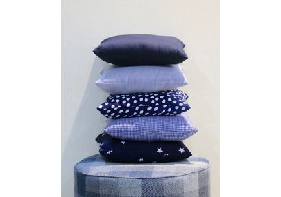 Shades of Blue Cushion Cover MYC-35, pack of 5, blue