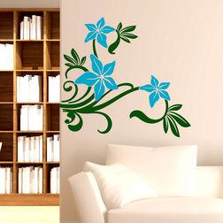 Wall Stickers Chipakk Flowering Branch5 Blue