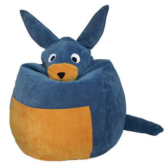 Donkey Bean Bag Cover - BB14, blue