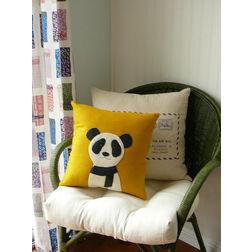 Panda Cushion cover MYC-49, pack of 1, yellow