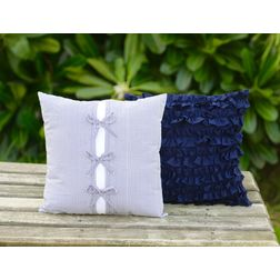 Frill & Gentle Cushion Cover MYC-03, pack of 2, white