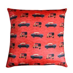 The Elephant Company Taxi Mete Home Cushion Covers, red