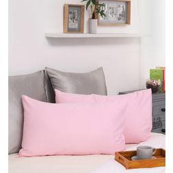 Dreamscape 100% Cotton 230TC Sateen Pink Pillow Pair, pink