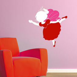 Wall Stickers For Kids Chippak Ballerina Fairy Red FA8AM