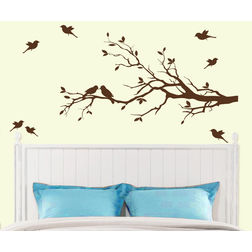 Kakshyaachitra Birds On Branches Wall Stickers For Bedroom And Living Room, 33 16 inches
