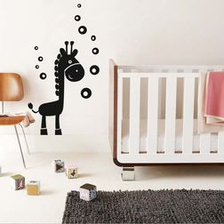 Kakshyaachitra Giraffe and Bubbles Wall Stickers For Kids Room, 15 24 inches