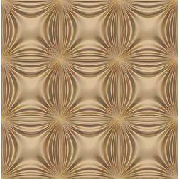 Elementto Floral Design Modern 3D Wallpaper for Walls - td32601, brown