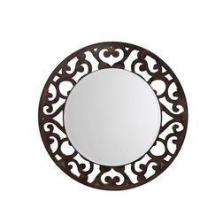 Aasra Decor Floral Mirror Decor Wall Mirror, brown