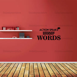 Kakshyaachitra Actions Speak Louder Than Words Wall Stickers For Bedroom And Living Room, 44 24 inches