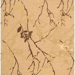 Antique Abstract Curtain Fabric - 27, brown, sample