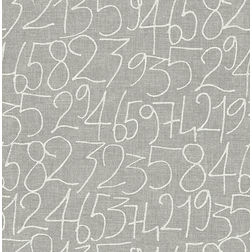 Elementto Wallpapers Numeric Design Home Wallpaper For Walls, grey