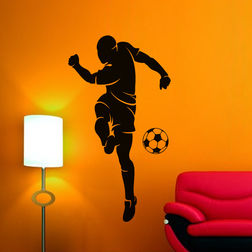Kakshyaachitra Corner Kick Wall Stickers For Bedroom And Living Room, 48 87 inches