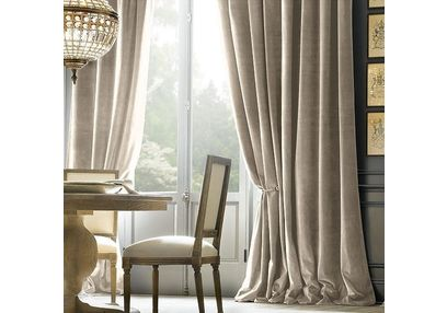 Shiva Solid Readymade Curtain - SJ702, window, beige