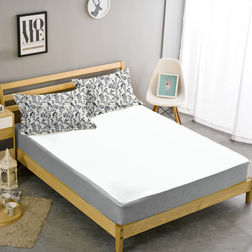 Double Bed Sheet With Two Pillow Covers BS-21, double, white