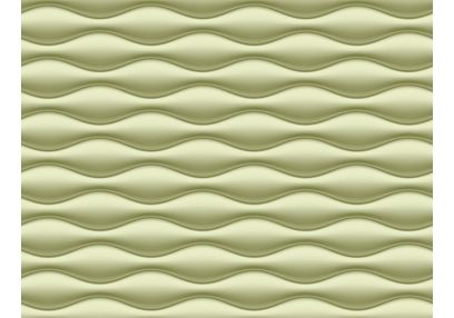 Elementto Wave Design Modern 3D Wallpaper for Walls - td31700, green