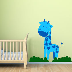 Wall Sticker For Kids Chipakk Giraffe Blue AN10BS