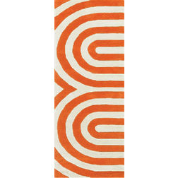 Floor Carpet and Rugs Hand Tufted AC Concept AbstractOrange Carpets Online - RN-49-L, 3ftx5ft, orange
