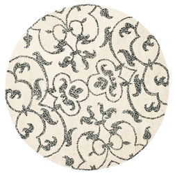 Floor Carpet and Rugs Hand Tufted, AC Concept FloralWhite Carpets Online - RNDC-09-L, 3ftx5ft, white