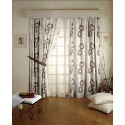 Passion Geometric Readymade Curtain - 10, long door, beige
