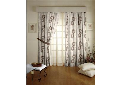 Passion Geometric Readymade Curtain - 10, long door, beige